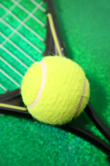 Tennis and racquet