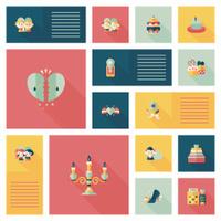 Valentine's Day ui flat design background set, eps10
