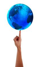 Spinning Globe on finger