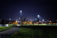 Park in Berlin at night