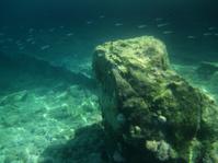 Underwater beach rock