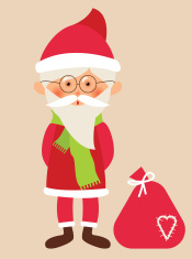 Santa Claus with gifts