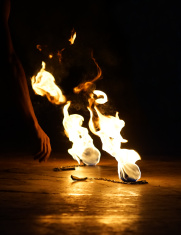 Burning Fire Poi