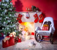 Christmas interior for photo studio