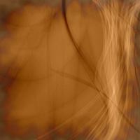Dark Orange Fractal Flower, Digital Artwork Stock Vector