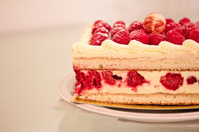 sweet dessert: raspberry cheesecake