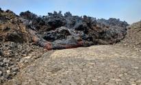 Lava fills road