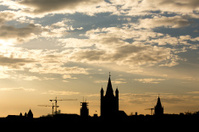 cologne sundown silouette cityscape