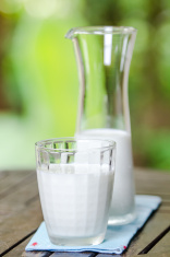 milk jug with milk glass