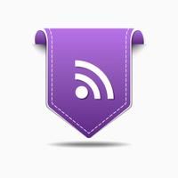 RSS Sign Purple Vector Icon Design
