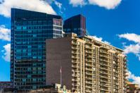 Modern skyscrapers in downtown Boston, Massachusetts.