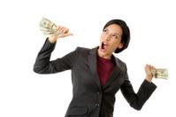 Woman Happy With Money