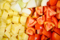 fresh chopped vegetables