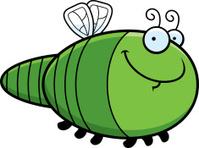 Happy Cartoon Dragonfly