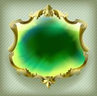 Gold baroque frame