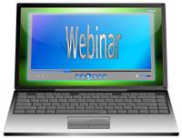 Laptop with webinar