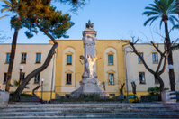 Statue in a square,  Sorrento, Campania, Italy