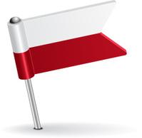 Polish pin icon flag. Vector illustration