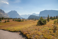 View from the trail at Logan Pass at Glacier National Park