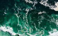 Atlantic ocean waves background