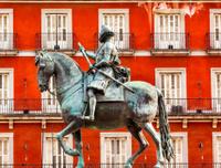 King Philip III Equestrian Statue Plaza Mayor Madrid Spain