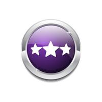 3 Star Purple Vector Icon Button