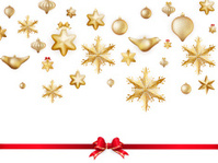 White isolated card with christmas balls. EPS 10