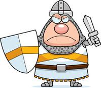 Angry Cartoon Knight
