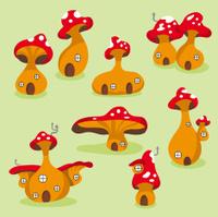 Cute mushroom houses