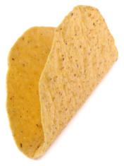 Empty Taco Shell Isolated