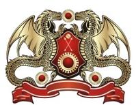 Heraldic sign. Golden dragon