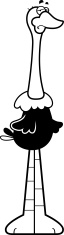 Sad Cartoon Ostrich