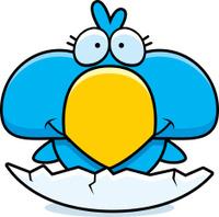 Cartoon Blue Bird Hatch