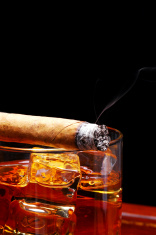 Cigar on Whiskey