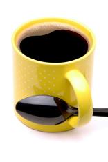 Coffee Mug with black Spoon