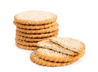 Sweet cookies with sesame seeds