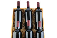 Case of Cabernet Wine Bottles