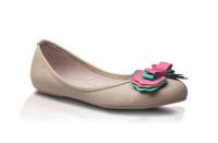 Beautiful woman fashion shoe isolated on white