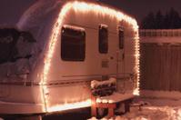 Winter camping holiday