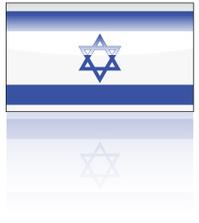 Glossy Israeli Flag