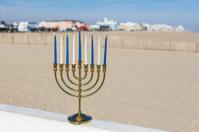 Chanukah Menorah at the beach