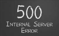 HTTP Status code 500 Internal Server Error