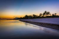 Sunset at Smathers Beach, Key West, Florida.