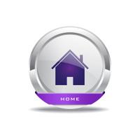 Home Circular Purple Vector Web Button Icon