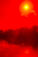 Landscape with red filter