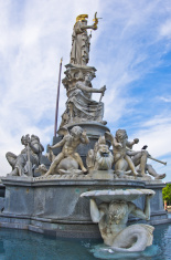 Pallas Athene fountain in front of Austrian Parlament, Vienna
