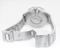 Detail of silver wristwatch