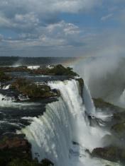 Iguassu Falls with rainbow