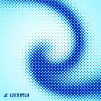 abstract blue background with spiral vortex