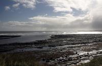 storm at sea and beach